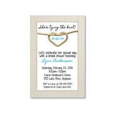 Hey, I found this really awesome Etsy listing at https://www.etsy.com/listing/177064052/tying-the-knot-bridal-shower-invitation