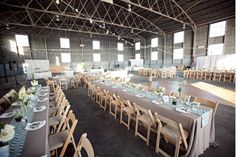 I kind of love the long tables with the slate linen and mint/aqua runners. This is almost perfect!