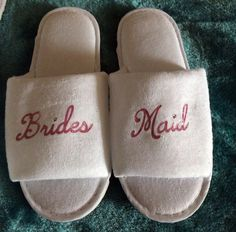 8d1871232c7 Bridesmaid spa Bride slippers personalised slip ons shose mother bachelorette  slippers sister of the groom mother