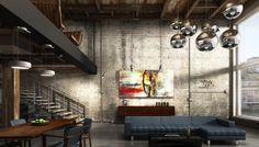 cool industrial loft Warehouse