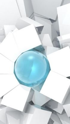 cubes and sphere iphone 5 wallpaper