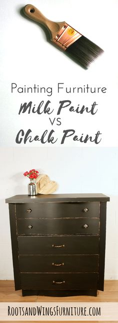 How do you know when to use milk paint or chalk paint for your next  project?? Look no further for the answer!  Here's a free paint guide to  help you decide.
