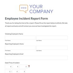 Incident Report Sample Format Unique Incident Report Sample  Incident Report Template  Pinterest .