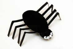 Lucru manual Paianjen de hartie Craft for kids paper spider