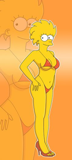 Since I've been drawing alot of the Simpsons lately I thought I'd give Lisa a try as well, and drew her as her adult future self that whos up every othe. Girl Cartoon, Cartoon Art, Meg Family Guy, Homer And Marge, Fox Tv Shows, Simpsons Cartoon, American Dad, Sexy Cartoons, Female Art