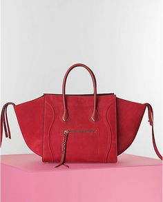 c6be3b032742  Celine Red Nubuck Suede Phantom Bag - Winter 2014 Red Bags