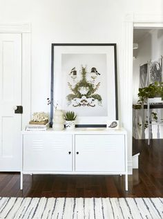 Ikea 'PS' cabinet - Decoration For Home Small Living Rooms, Home And Living, Living Room Decor, Living Spaces, Ikea Ps Cabinet, Ikea Cabinets, Ikea White Cabinet, Ikea Lockers, Industrial Style
