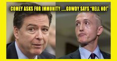 """James Comey Asked For Immunity After Hillary's Email Case Got Reopened… Trey Gowdy Says """"HELL NO"""" – TruthFeed"""