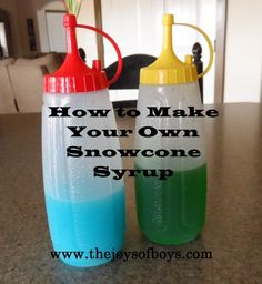 How to make your own snow cone syrup.