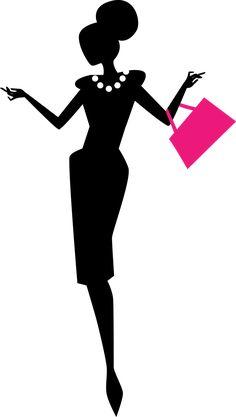 Black Business Woman Silhouette