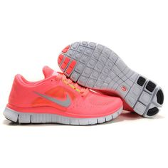 premium selection dba7c 5aa09 Nike Free Run 3 Hot Punch Shoes Pink Pro Silver Sol Volt half off