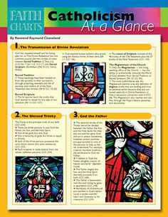 Faith Charts: Catholicism at a Glance Profession Of Faith, Catholic Catechism, Catholic Answers, Catechist, I Believe In Love, Prayers For Healing, Spirituality Books, Religious Education, At A Glance