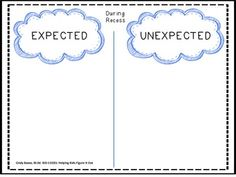Sample page from: KID CODES: Helping Kids Figure It Out.    EXPECTED VS. UNEXPECTED BEHAVIOR: DURING RECESS - TeachersPayTeachers.com