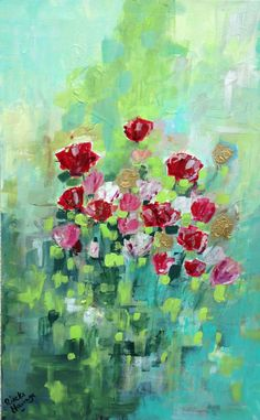 Flower Symphony - http://www.contemporary-artists.co.uk/paintings/flower-symphony/