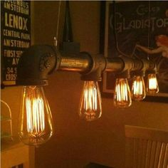 Edison Personalized bar Lighting counter lamps vintage pendant lights water pipe pendant lamp