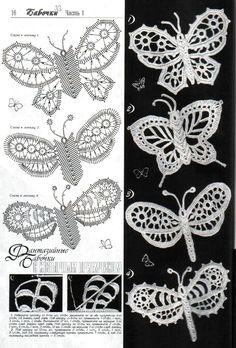 .irish crochet butterfly
