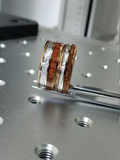 #Rose #Gold #Wood #Meteorite #Tungsten #Ring #Male #Wedding #Band #Set | Etsy #Anniversary #Rings #Rose #Gold #Wood #Meteorite #Inlay #Male #Wedding #Band #8mm #size #5 #to #14 #mens #anniversary #fathers #day #gift #high #polished #comfort #fit #ring #meteorite #band #meteorite #ring #rose #gold #set #wedding #ring #set Tungsten Mens Rings, Tungsten Wedding Bands, Wedding Band Sets, Wedding Rings, Gold Wood, Rose Gold Plates, Fathers Day Gifts, Rings For Men, Anniversary Rings