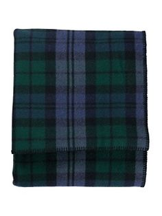 After seeing the black and red plaid cotton blanket from Ralph Lauren,  I saw this...Eco-wise Wool Plaid/stripe Blanket