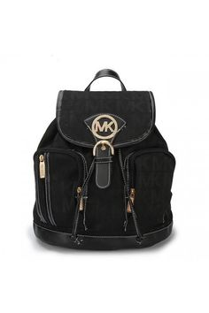 1bee4ad5f0ec Welcome To Our Michael Kors Jet Set Signature Large Black Backpacks Online  Store