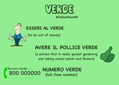 """Espressioni italiane con """"verde"""" - Italian expressions with the word green"""