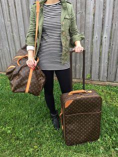 10d9866190e LOUIS VUITTON Monogram Pegase 55 Suitcase Roller Luggage Louis Vuitton  Luggage