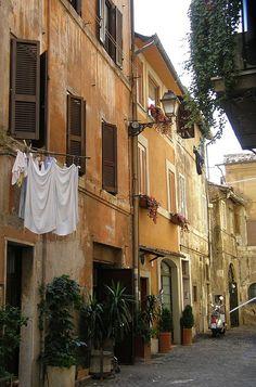 Trastevere Street - Rome , Italy