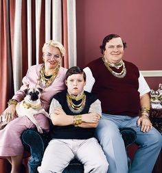 The family that accessorizes together...well, they're kind of weird.