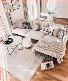 Living Room Decor Inspiration, Living Room Ideas, Boho Living Room, Small Space Living Room, Apartment Living, Chic Apartment Decor, Apartment Ideas, Home Interior Design, Living Room Designs