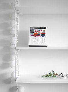 Home office - Marimekko calendar and happy lights