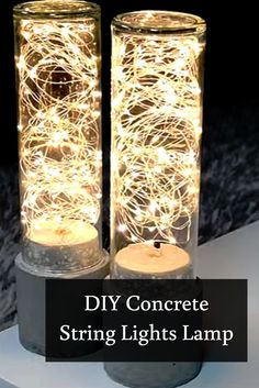 Be mesmerized on this beautiful play of lights project. Make your own concrete LED string light lamp to vamp up your living room.  See instructions here ==> http://gwyl.io/diy-string-lights-concrete-lamp/