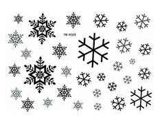 Snowflake Temporary Tattoo Christmas Halloween Costume | ca $7