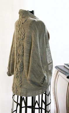 Creature's Comfort Cardigan with beautiful leaf-detail in back