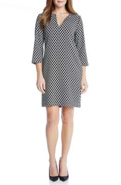 Karen Kane Diamond Print Shift Dress