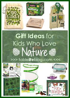 Gift Ideas for Kids Who Love Nature Looking for fun gift ideas for your nature lover? Today I'm sharing nature-inspired gifts that will help your kiddo explore and continue to enjoy nature. Nature Activities, Activities For Kids, Nature Study, Nature Nature, Nature Table, Exploration, Outdoor Learning, Nature Journal, Unit Studies