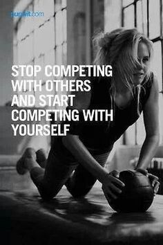 Stop competing with others, Workout Motivation