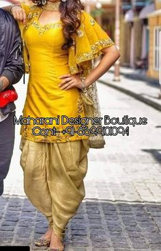 Looking For Punjabi Suits Online Boutique, Salwar Suits from Maharani Designer Boutique, Call - ( Whatsapp ) Punjabi Suits Designer Boutique, Indian Designer Suits, Patiala Suit Designs, Kurti Designs Party Wear, Neck Designs For Suits, Sleeves Designs For Dresses, Dhoti Salwar Suits, Salwar Kameez, Chikankari Suits