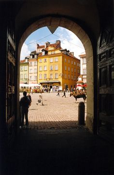 Warsaw ... That's our ice cream shop on the bottom right behind the horse. Cami's amber shop is down that street.