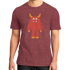 District T-Shirt (on man) - Monster Red