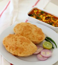 bhature recipe for chole bhature bhature or bhatura recipe. instant bhature recipe without yeast. bhature goes well with amritsari chole. how to make bhature Indian Vegetarian Dishes, Indian Dishes, Indian Food Recipes, Asian Recipes, Ethnic Recipes, Punjabi Cuisine, Punjabi Food, Recipes With Yeast, Cooking Recipes