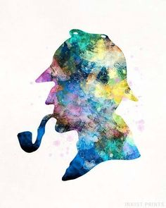 Sherlock Holmes Watercolor Wall Art Poster - Prices from $9.95 - Click Photo for Details - #nursery #christmasgift #giftformom #kidsroomdecor #babyroomart #SherlockHolmes Sherlock Poster, Sherlock Holmes, Conan, Enola Holmes, Watercolor Map, Watercolor Ideas, Baby Room Art, Poster S, Baby Shower Gifts