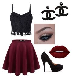 """""""soirée"""" by baby-dolle on Polyvore featuring Lipsy and Lime Crime"""