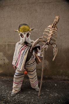 Cucurrumacho, máscara de los carnavales de Navalosa, Avila Spain