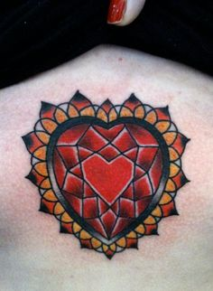 My sternum tattoo, diamond heart, done at the 2011 Sydney Tattoo Expo, by Rose Hardy from Chapel Tattoo Studio in Melbourne Australia Key Tattoos, Cover Up Tattoos, Rose Tattoos, Flower Tattoos, Body Art Tattoos, Sleeve Tattoos, Butterfly Tattoos, Skull Tattoos, Tattoo Drawings
