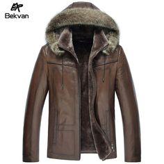 çıkarılabilir kapüşonlu büyük kürk yakalı deri ceket erkek giyim hakiki deri koyun derisi merinos astar deri giyim