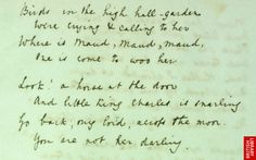 Pinterest Pin - Today Cross Pens celebrates Alfred Lord Tennyson's birthday. Here is a bit of a poem he wrote by hand using a fountain pen.