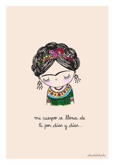 Compre carta de amor de @adonadabolsinha em posters de alta qualidade. Incentive artistas independentes, encontre produtos exclusivos. Arte Indie, Indie Art, Illustration Art Drawing, Art Drawings, Frida Tattoo, Frida Quotes, Kahlo Paintings, Deco Paint, Frida Art