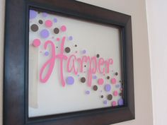 Cricut vinyl...i like the flow of the dots on this one.
