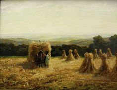 Pippel, Otto Edward (Lódz 1878 - Planegg 1960) . Signed farmers wife with Horse team at the hay harvest. Signed and right reverse relation. ...