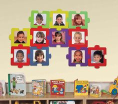 Puzzle-shaped picture frame.