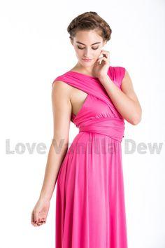 Bridesmaid Dress Infinity Dress Shocking Pink by LoveVanillaDew